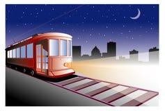 röd trolley Fotografering för Bildbyråer
