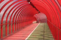 röd tunnel 2 arkivfoto