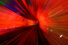 röd tunnel royaltyfri bild