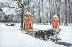 Röd turkisk kaskad i Tsarskoye Selo royaltyfri foto