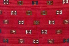 Röd turkisk matta Royaltyfria Foton