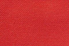 Röd tvättad matttextur, bakgrund för textur för linnekanfas vit Royaltyfri Foto