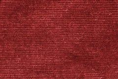 Röd tvättad matttextur, bakgrund för textur för linnekanfas vit Arkivbilder