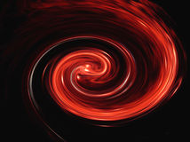 röd twirl Arkivbilder