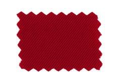 Röd tygprovkarta Arkivfoton