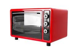 Röd ugn för kök Arkivbilder