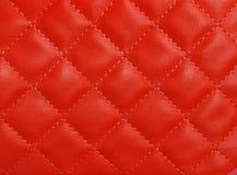 Röd upholstery Arkivfoton
