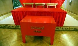 Röd urna Royaltyfri Foto
