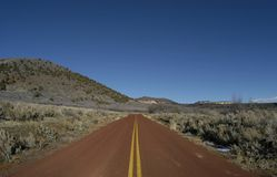 röd väg Fotografering för Bildbyråer