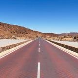 Röd väg i Tenerife Fotografering för Bildbyråer
