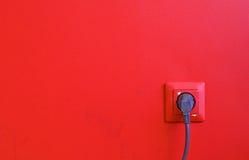 röd vägg Arkivbilder