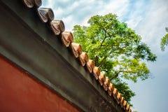 Röd vägg för Peking royaltyfria bilder