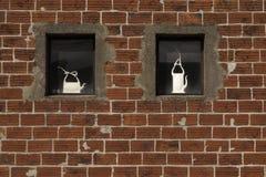 Röd väggkeramik Royaltyfri Foto