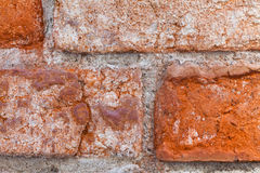 Röd väggtegelsten för tappning closeup Arkivbild