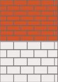 röd väggwhite för tegelsten Arkivfoton