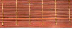 Röd vävd bambu Royaltyfria Bilder