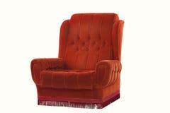 Röd vadderad stol Royaltyfri Foto