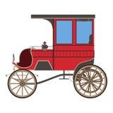 Röd vagn för kunglig vektor Royaltyfria Bilder