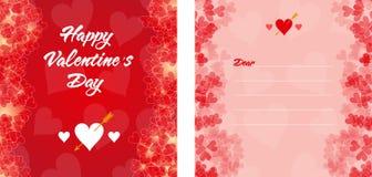 Röd valentin daginbjudan eller kort Royaltyfri Foto