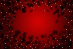 Röd valentindagbakgrund för matar in text Royaltyfri Bild
