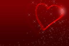 Röd valentindagbakgrund för matar in text Royaltyfria Foton