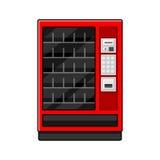 Röd varuautomat på vit bakgrund vektor vektor illustrationer