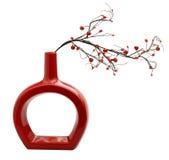 röd vase Royaltyfri Foto