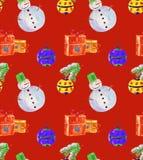 Röd vattenfärg för julbakgrund Arkivbild