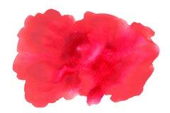 Röd vattenfärgbakgrund på vit royaltyfria bilder