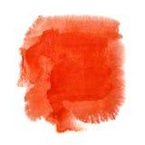 Röd vattenfärgfläck Royaltyfri Foto