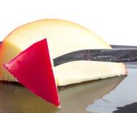 Röd vaxad holländsk ost royaltyfria bilder
