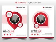 Röd vektor för mall för design för stiftårsrapportbroschyr Affisch för tidskrift för affärsreklamblad infographic Abstrakt orient vektor illustrationer