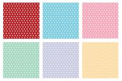 Röd vektor för prick för guling för rosa färger för greenmintlilablått royaltyfri illustrationer