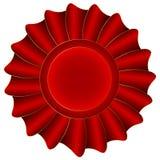 Röd vektoretikett Fotografering för Bildbyråer