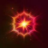 Röd vektorstjärna för brand Royaltyfria Bilder