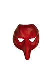 Röd Venetian maskering Arkivfoton