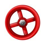 röd ventil Arkivfoto