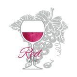 Röd vine Fotografering för Bildbyråer