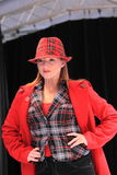 röd vinter för mode Arkivfoto