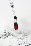 Röd vintergondol Arkivfoto