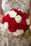 Röd vit blom- bukett Royaltyfri Fotografi