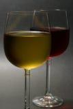 röd vit wine Arkivbilder