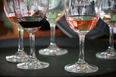 röd vit wine Royaltyfri Foto