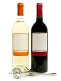 röd vit wine för korkskruv Royaltyfria Bilder