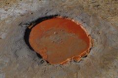 Röd vulkan Royaltyfri Bild