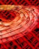 röd wave för grunge Royaltyfri Foto