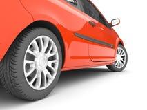 röd white för bakgrundsbil Royaltyfria Bilder