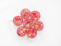 röd white för bakgrundsbolljul Arkivbild