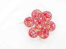 röd white för bakgrundsbolljul Royaltyfri Bild