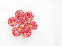 röd white för bakgrundsbolljul Royaltyfria Foton